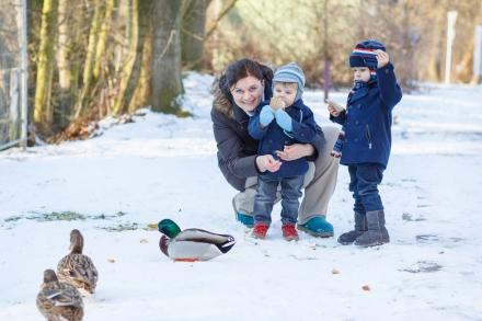 Lidt vintermode til mor og barn!